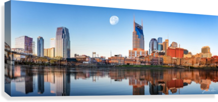 Nashville Skyline in the morning  Canvas Print