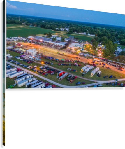 2017 Schuyler Co Fair Tractor Pull  Canvas Print
