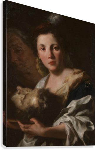 Judith with the head of Holofernes  Canvas Print