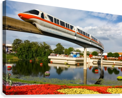 EPCOT Monorail  Canvas Print