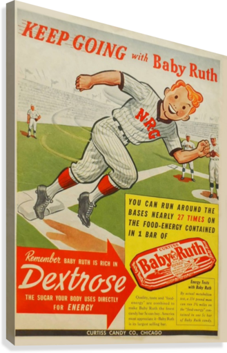 Keep going with Baby Ruth  Canvas Print