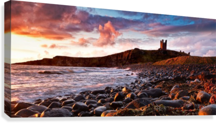 DUNSTANBURGH CASTLE, NORTHUMBERLAND, UK KEITH TRUMAN  Canvas Print