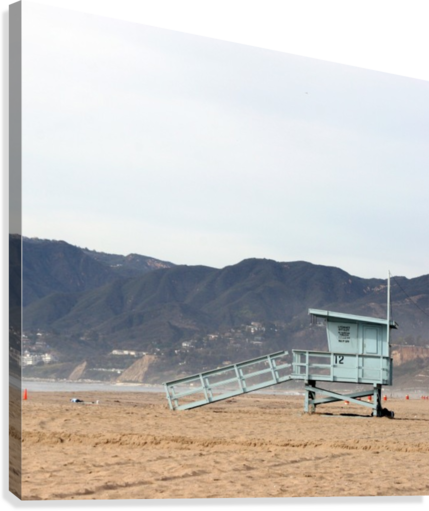 Lonely Lifeguard Tower at Beach  Canvas Print