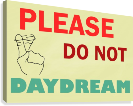 Please do not daydream  Canvas Print
