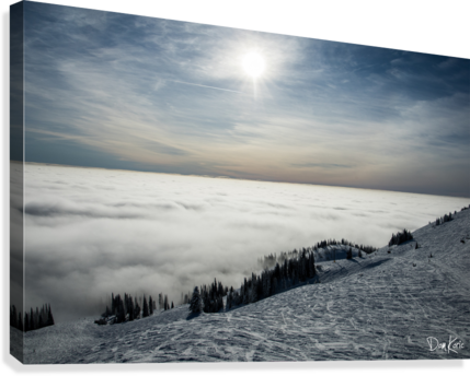 Descent to the Clouds  Canvas Print