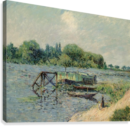 Laun Place on the Seine at Herblay  Canvas Print