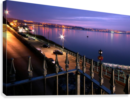 SWANSEA BAY AT NIGHT LEIGHTON COLLINS  Canvas Print