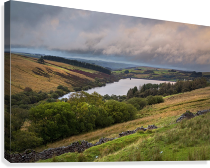 The Cray Reservoir in the Brecon Beacons National Park  Canvas Print