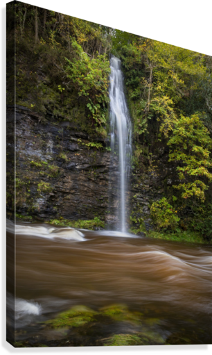 A waterfall on the river Tawe  Canvas Print