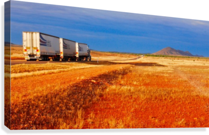 Road Train to Somewhere  Canvas Print