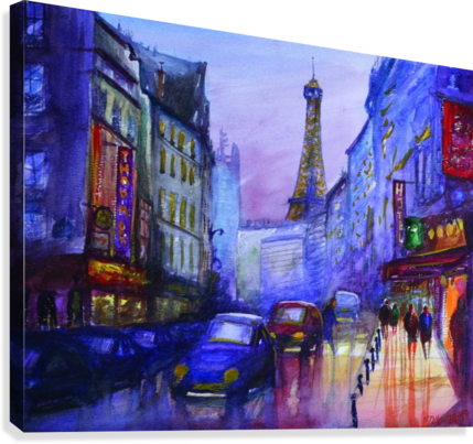 EVENING IN PARIS LIOR OHAYON  Canvas Print