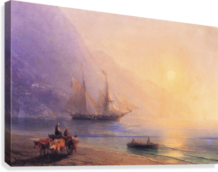 LOADING PROVISIONS OFF THE CRIMEAN COAST IVAN AIVAZOVSKY  Canvas Print