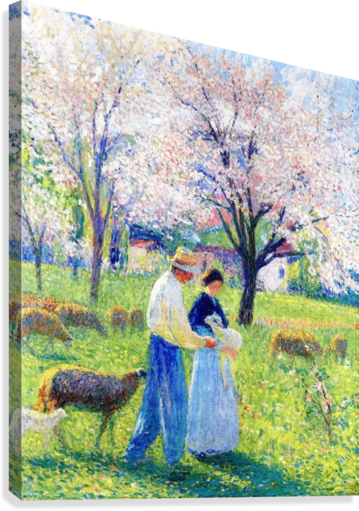 Lovers at Spring  Canvas Print