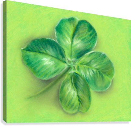 LUCKY FOUR LEAF CLOVER MM ANDERSON  Canvas Print
