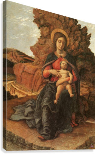 Madonna of the Cave  Canvas Print