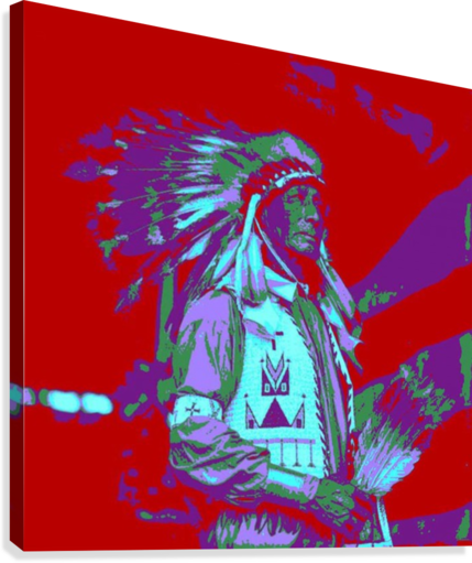 Indian Chief Pop Art  Canvas Print