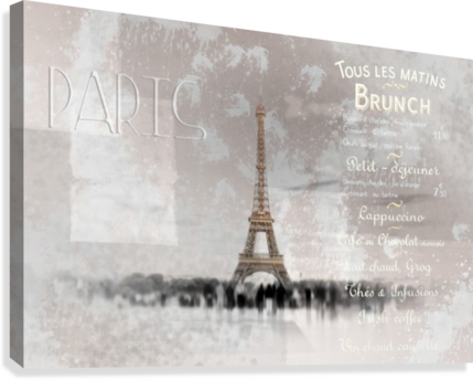 Digital-Art Eiffel Tower II  Canvas Print