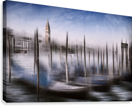Digital-Art VENICE Grand Canal and St Mark's Campanile  Canvas Print