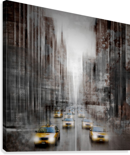 City-Art NYC 5th Avenue Traffic  Canvas Print