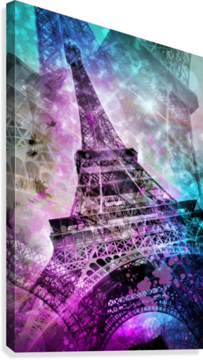 Pop Art Eiffel Tower  Canvas Print