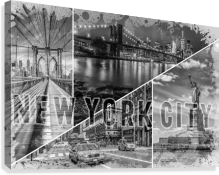 NEW YORK CITY Urban Collage No. 2  Canvas Print
