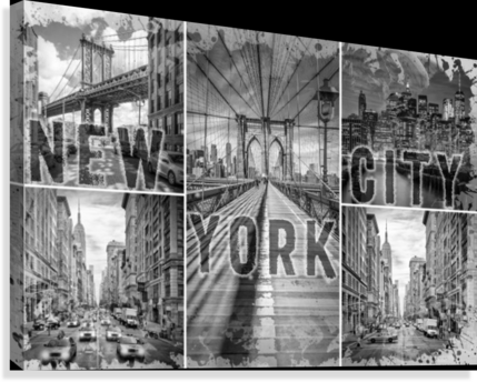 NEW YORK CITY Urban Collage No. 3  Canvas Print