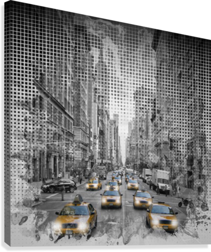 Graphic Art NEW YORK CITY 5th Avenue Traffic  Canvas Print