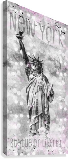 Graphic Art NEW YORK CITY Statue of Liberty  Canvas Print