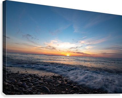 Washed by a Sunset  Canvas Print