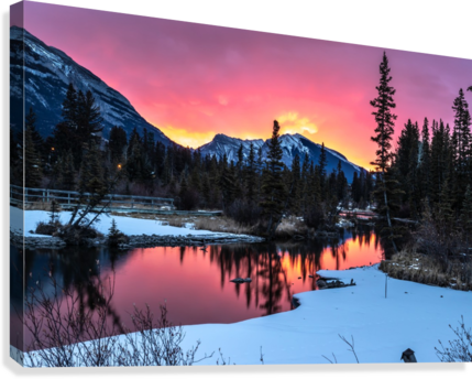 SUNRISE AT POLICEMANS CREEK ALBERTA MIKE GOULD PHOTOSCAPES  Canvas Print