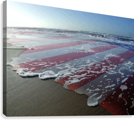 american flag overlay waves - MonicaVee - Canvas Artwork