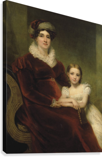 Mrs.Alexander Allan with her granddaughter  Canvas Print