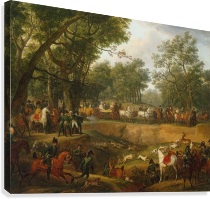 Napoleon on a Hunt in the Forest of Compiegne  Canvas Print