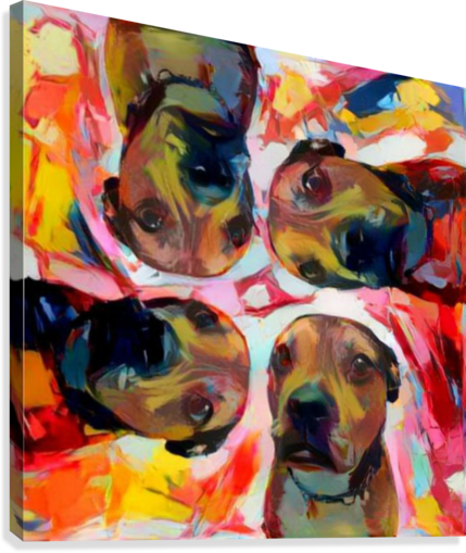 Dog Painting (8)  Canvas Print