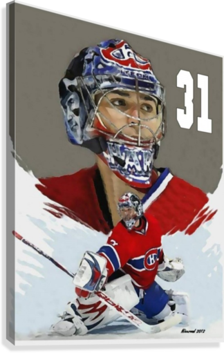 Carey Price portrait  Canvas Print