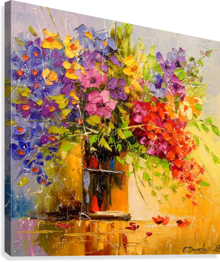 A bouquet of wild flowers  Canvas Print