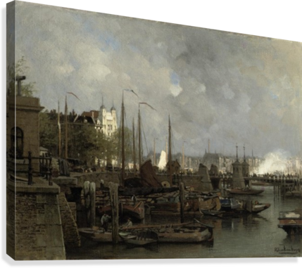 Oude haven with the Koningsbrug  Canvas Print