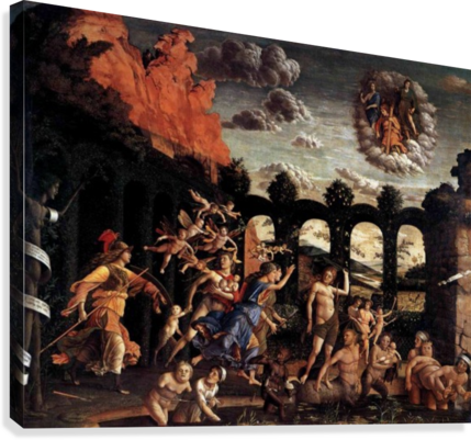 Pallas Expelling the Vices from the Garden of Virtue  Canvas Print