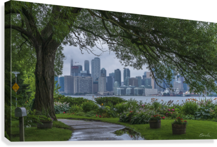 Downtown Toronto seen from Wards Island  Canvas Print