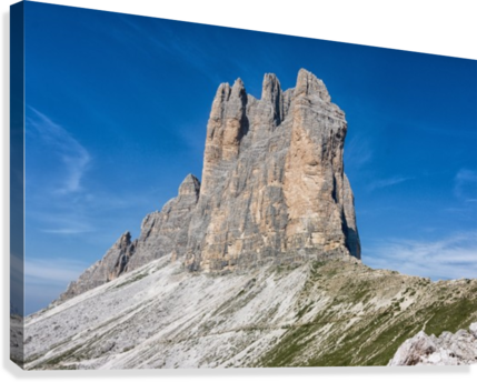 Three peaks of Lavaredo  Canvas Print