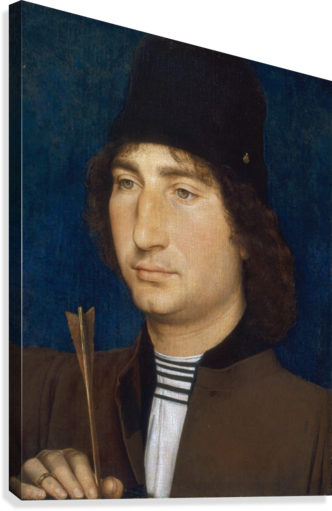 PORTRAIT OF A MAN WITH AN ARROW HANS MEMLING  Canvas Print