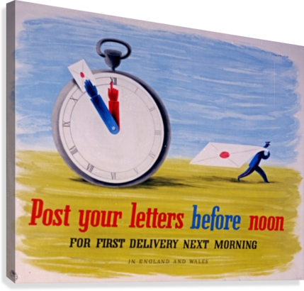 Post your letters before noon  Canvas Print