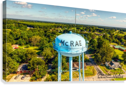 McRae, AR | Water Tower  Canvas Print