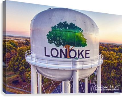 LONOKE AR | PAINTED WATER TOWER 2017 PROVISION UAS  Canvas Print