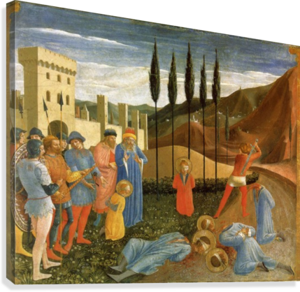 PUBLIC EXECUTION FRA ANGELICO  Canvas Print
