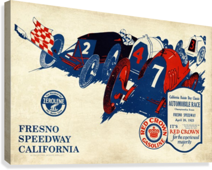 California Raisin Day Classic Automobile Race Championship Event Fresno Speedway 1923  Canvas Print