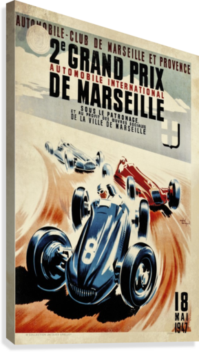 Marseille 2nd Grand Prix Automobile International 1947  Canvas Print