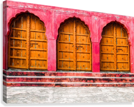 Doors of the Pink City   Canvas Print