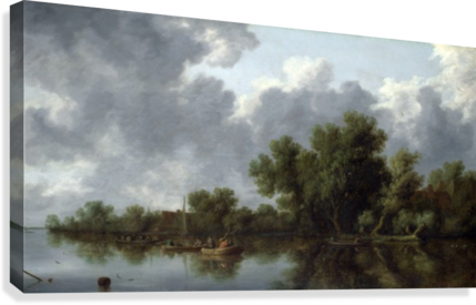 River Scene  Canvas Print