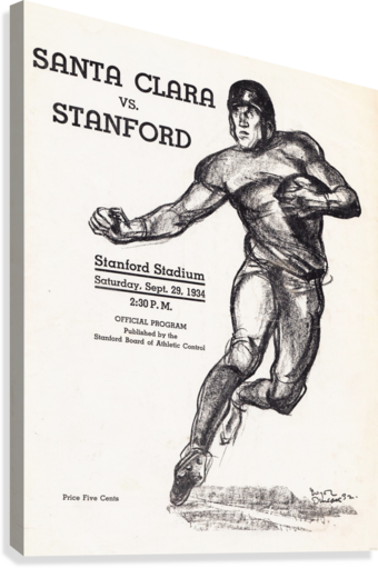 1934  Santa Clara vs. Stanford  Canvas Print